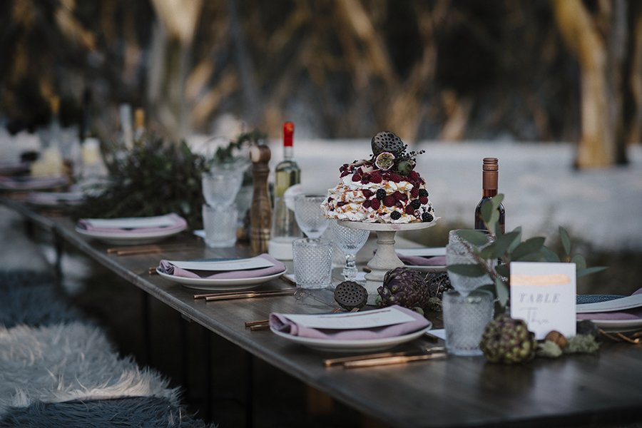Wedding reception at the eco-village